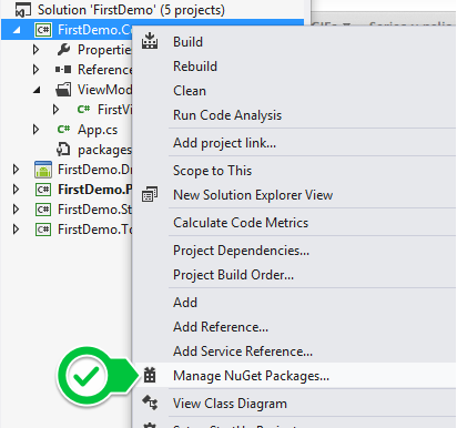 Add Nuget Package